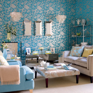 Blue, White, Silver Sitting Room