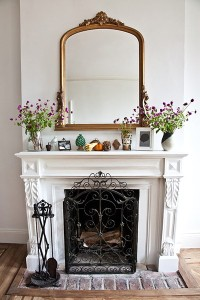 Fresh White Fireplace