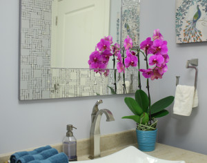 Orchids in Bathroom