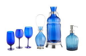 Pier 1 Blue Glass Items