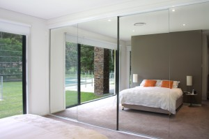 Semi Frameless Mirror Doors