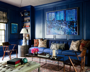 Thom Filicia Blue Library