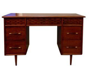 Basket Weave Drawer Desk