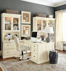 Elegant Home Office in White