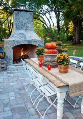 Fall Outdoor Evening Dining