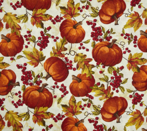 Pumpkin Toss Cream Fabric