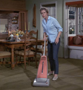 Samantha Stephens Vacuuming