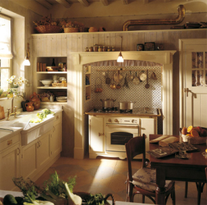 Country Kitchen with Stove