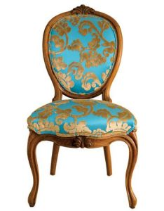 Gold and Teal Dining Chair