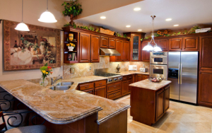 Granite Kitchen with Tapestry