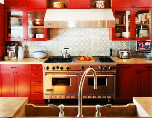 Sara Bengur Red Kitchen