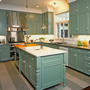 Vintage Kitchen with Island