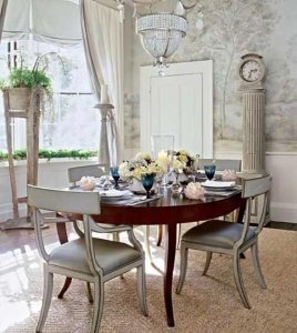 Classy Silver Dining Room