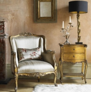 Gold and Silver Sitting Room