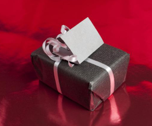 Gray Wrapped Gift