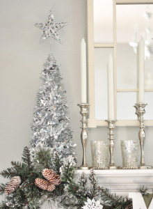 Riley Silver Tinsel Tree
