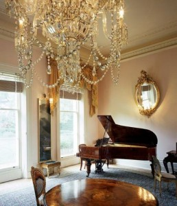 Chandelier and Piano