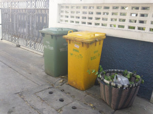 Colorful Waste Recepticles