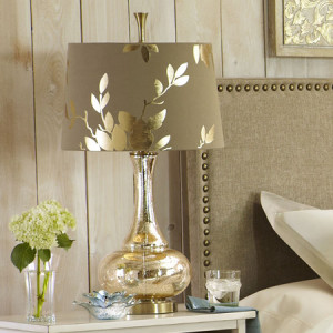 Gold Leaf Glass Lamp