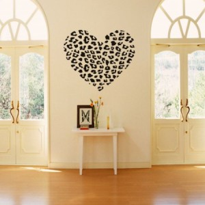 Leopard Heart Decal