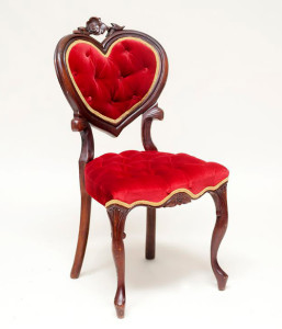 Red Sweetheart Chair