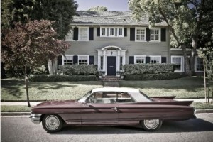 Draper Home with Cadillac