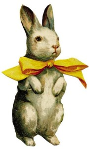 Easter Bunny with Yellow Bow