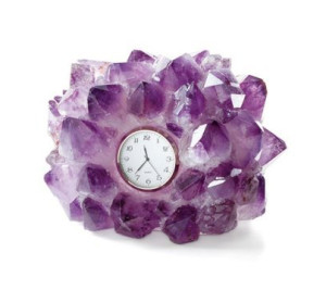 Amethyst Gemstone Clock