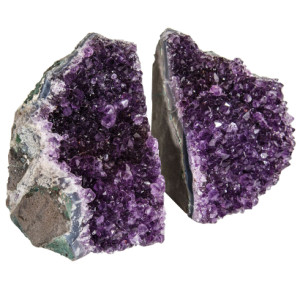 Amethyst Geode Bookends
