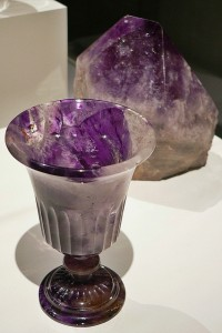 Carved Amethyst Chalice