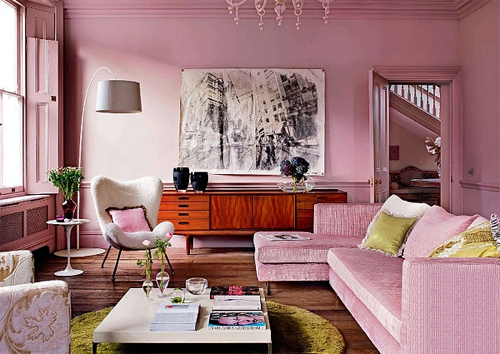 Stunning Pink Living Rooms Pictures - Home Design Ideas ...