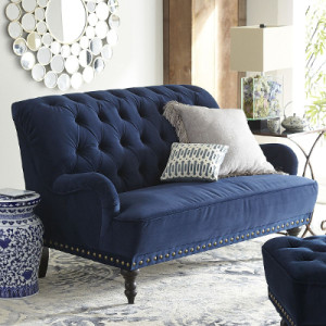 Chas Loveseat Navy